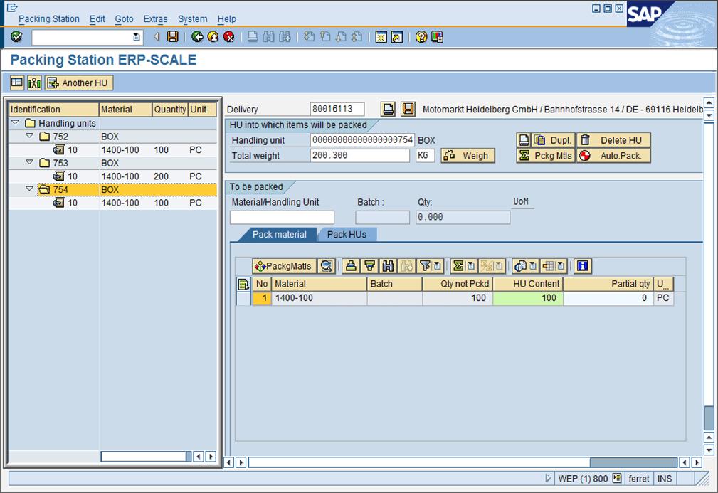 ERP-Scale for SAP ® ERP & EWM | Pocket Programs
