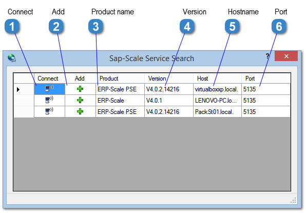 SAP-Scale Service Search Window