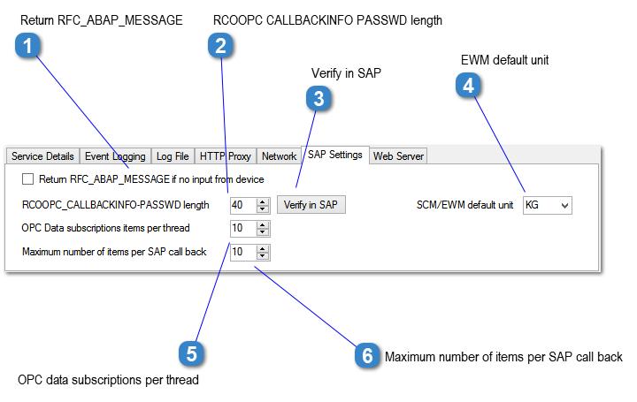 SAP Settings