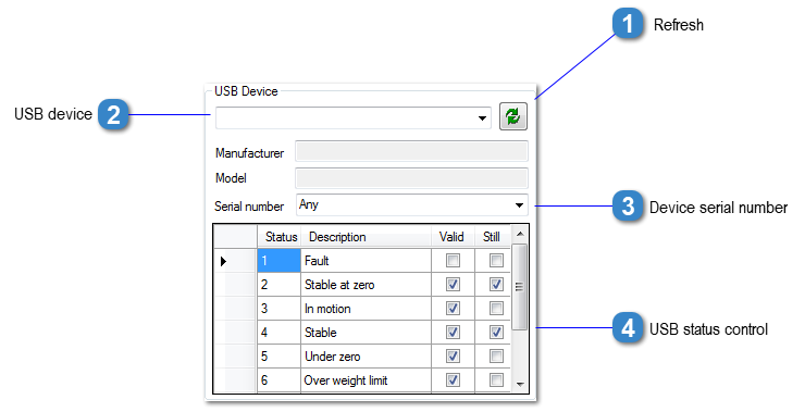 USB Communication Settings