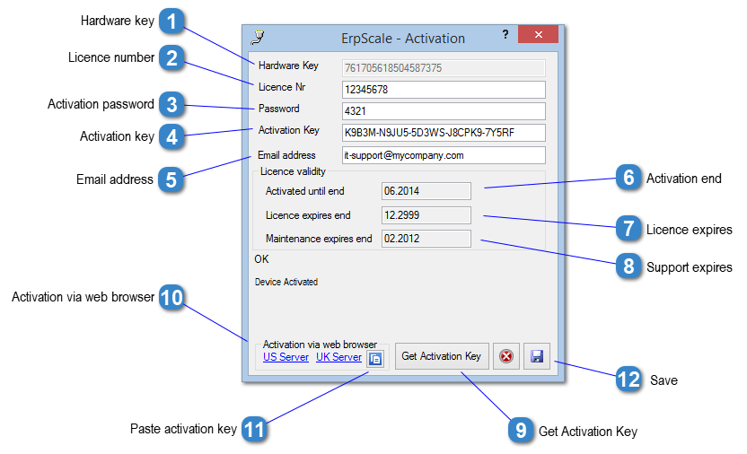 ERP-Scale - Activation Window