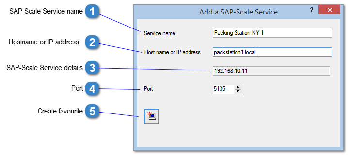 Add/Edit a SAP-Scale Service